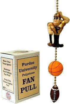(Purdue University Polystone Fan Pull - Purdue Pete Football and Basketball Design)