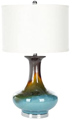 Safavieh Lighting Collection Georgia Blue 30-inch Table Lamp