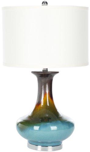 Safavieh Lighting Collection Georgia Blue 30-inch Table Lamp