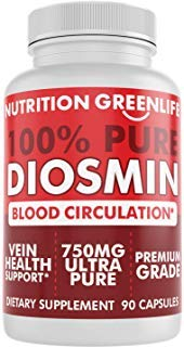 Vein Complex - 100% Pure DIOSMIN Pure Ingredient no Mixes or Additives for Blood Circulation, Leg Veins Health, Purity Guarantee Best Quality 90 Capsules