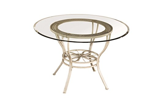 Hillsdale Furniture 5986DTB Round Dining Table, Aged Ivory