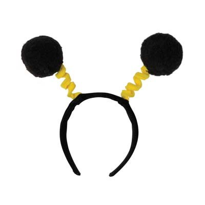 Soft-Touch Pom-Pom Boppers (black & yellow) Party