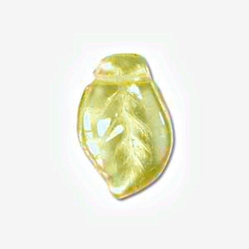 (Czech Glass 7x12mm Leaf Beads (50) (Jonquil))