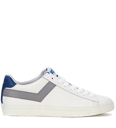 Pony Sneaker in Pelle Bianca e Grigia Bianco