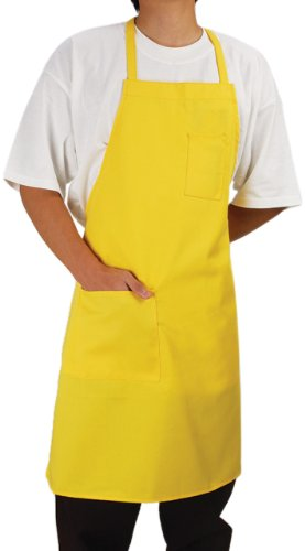 Phoenix Bib Apron with Fixed Neck, 28-Inch by 33-Inch, Yellow