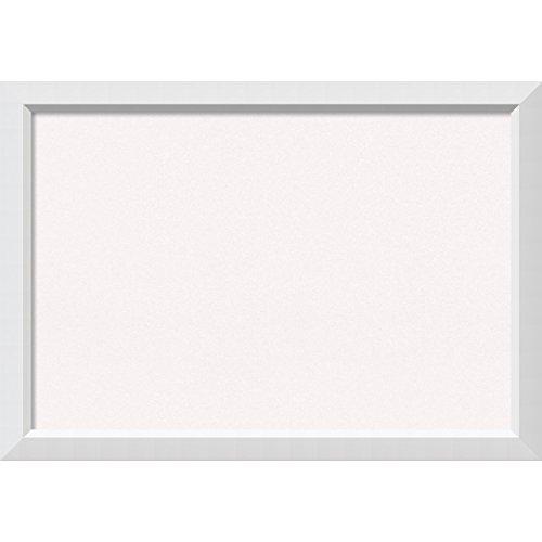 White Framed Cork Board (Amanti Art Framed Cork Board Blanco White: Outer Size 40 x 28