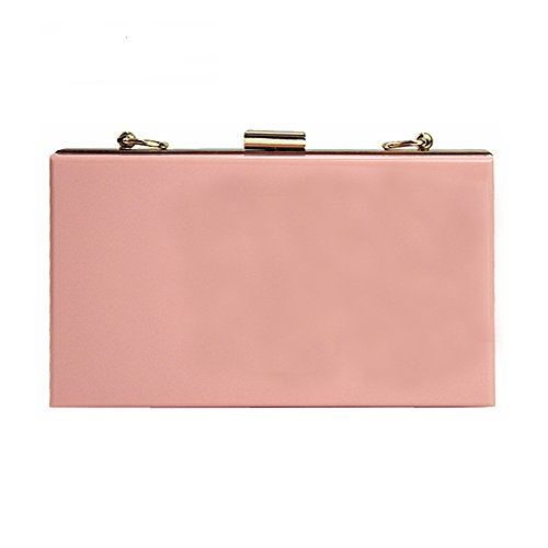 Shoulder handbag Party Clutch Wallet Hard Evening Solid Acrylic Brand Women Woman Bag Pink New Casual Fashion nWPw7nqB6