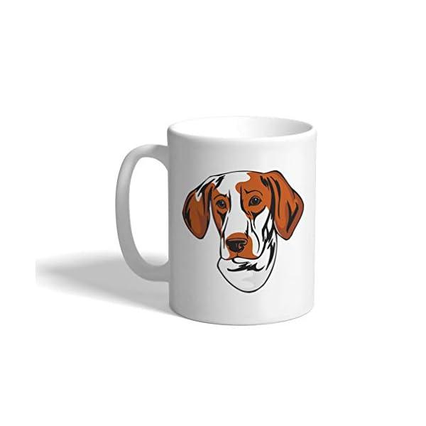 Custom Funny Coffee Mug Coffee Cup Ariege Pointer Head White Ceramic Tea Cup 11 OZ Design Only 1