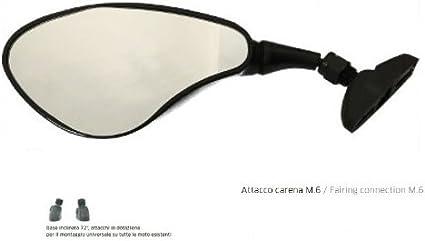 pour Honda Deauville 700 ABS Paire DE MIROIRS DE CAR/ÉNAGE pour Motocyclette ARRI/ÈRE Far Noir Miroir APPROUV/É 5971+5972 KIT DE Montage Universel M.6 Inclus