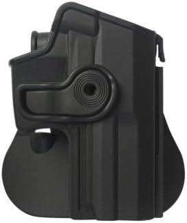 HK USP Compact Holster Polymer Retention Roto Holster for Heckler & Koch USP Compact 9/41negro y una auténtica tiro de igws tapones para los oídos Kit.