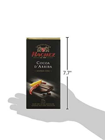 Hachez Cocoa D Arriba Chocolate Bar, Mango Chili, 3.5 Ounce