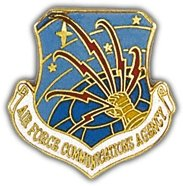 US Air Force Communications Agency Shield Lapel Pin