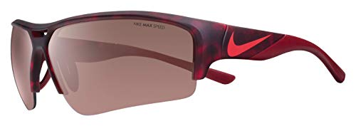 Nike Golf Men's X2 Pro E Rectangular Sunglasses, Matte Gym Tortoise/Team Red Frame, 74 ()