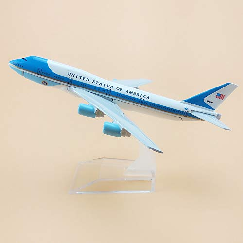 ZAMTAC 16cm Air United States of America Airlines Air Force One Boeing 747 B747 Plane Model Aircraft Airways Airplane Model