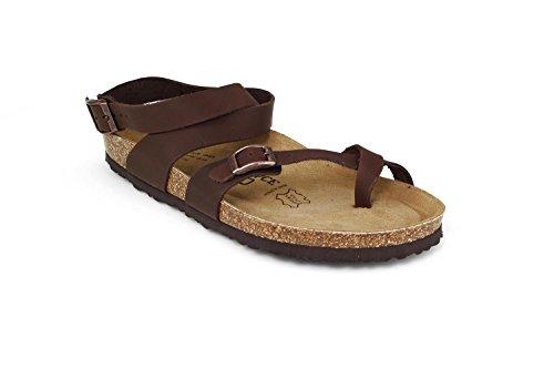 Joe N Joyce Yana Leer Geolied Soft-voetbed Sandalen Normale Donkerbruin