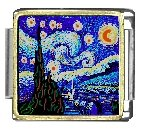Starry Night Italian Charms Br