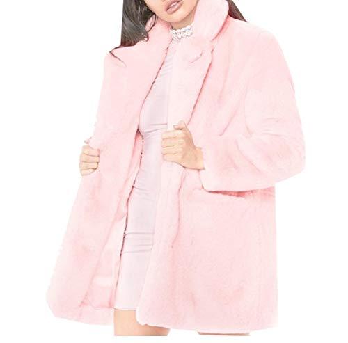 Fleece Shearling Women's Winter Jacket Light AngelSpace Lightweight Pink Outerwear Egfwx55q