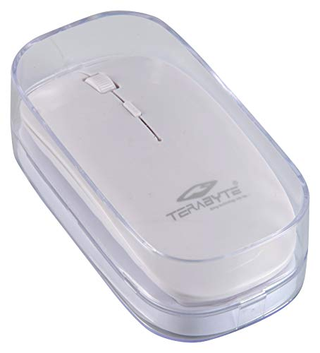 Terabyte Ultra Slim Wireless Mouse (White)