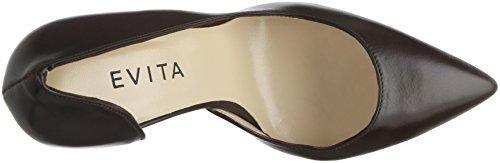 Punta dunkelbraun Alina Shoes Zapatos De Para Tacón Cerrada Marrón 22 Mujer Con Evita nYFPqxPW
