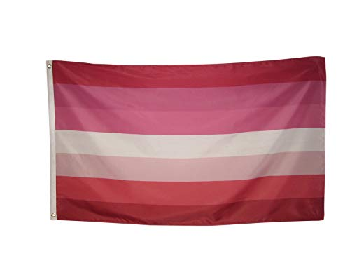 Jasper Merchandise Lesbian Pride Flag 3 x 5 Feet (36 x 60 inches) Pride, Gay, LGBT, Polyester with Two Metal Grommets Flagpole