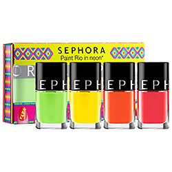 Amazon Com Sephora Collection Paint Rio In Neon Nail Polish Set