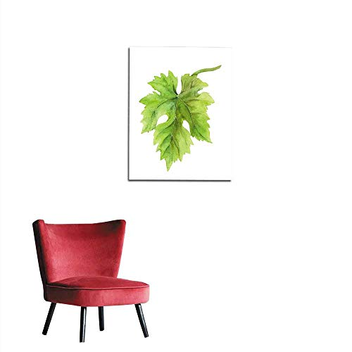 (longbuyer Wall Sticker Decals Grape Leaf of Vine Watercolor Mural)