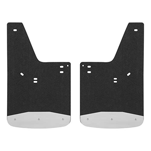 LUVERNE 251520 Front or Rear Textured Rubber Mud Guards Black 12-Inch x 20-Inch Select Ford F-150 (Textured Front Flap)