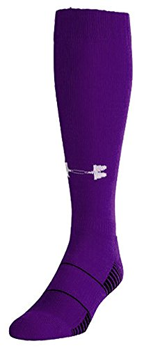 Free Under Armour UA Over-The-Calf Team Socks Large Purple