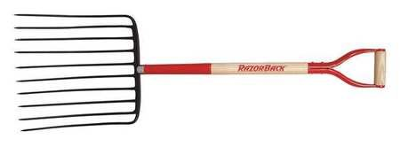 Ensilage Fork, D-Grip Handle, 30in.LHandle by RAZORBACK