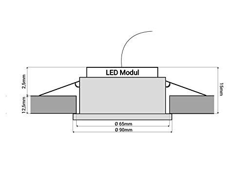 Häufig LED-Einbaustrahler extrem flach (15mm) aus klarem Echtglas rund NG36