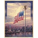 Thomas Kinkade Light of Freedom Flag Banner