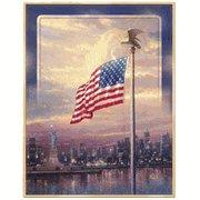 Thomas Kinkade Light of Freedom Flag Banner