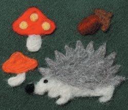 Bulk Buy: Clover aguja de fieltro Applique molde de erizo y setas 892 – 8