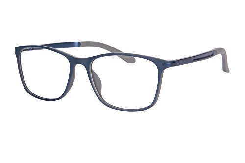 SHINU TR90 Progressive Multifocus Reading Glasses Multiple Focus Eyewear-SH031( blue and grey-up+1.00, down+2.50)