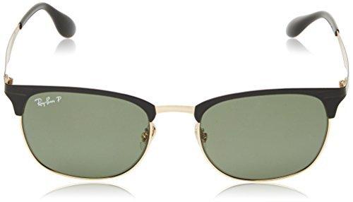 20d0034326 Amazon.com  Ray-Ban RB3538 Sunglasses Top Matte Black On Shiny Blk Dark  Green 53mm   Cleaning Kit Bundle  Clothing