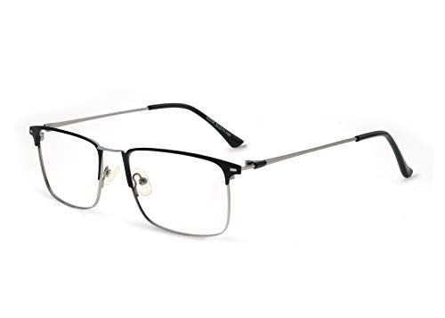 OCCI CHIARI Mens' Rectangle Metal Lightweight Eyewear Frame With Clear ()