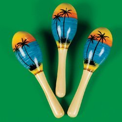 Tropical Maracas (Fun Express Mini Tropical Maracas - 12 Pieces)