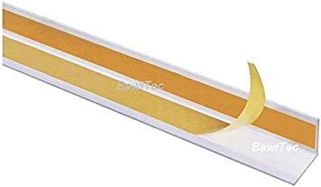 Bawitec Aluminium Winkelprofil Selbstklebend 30x30 Mm 1000mm Weiss Alu Winkelleiste Eloxiert Amazon De Baumarkt