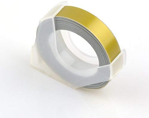 Generic 9mmX3m motex Label Tape Supplement DIY Cutting Embossing tag Machine Tape Decoration Scrapbooking Marker Korean Stationery Color GOLDTape (B07VMYCBM7) Amazon Price History, Amazon Price Tracker