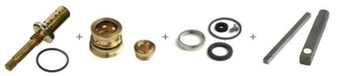 (RB) COMPLETE REBUILD KIT FOR SYMMONS TA10 TA9 TA4 T35 A-B STEM/SEATS/WASHERS/WRENCH by (RB)