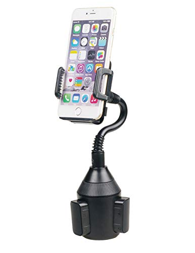 Hypersonic Universal 360 Degree Rotating Cup Car Phone Holder Smartphone Mount Cradle with 6 in/160 cm Gooseneck