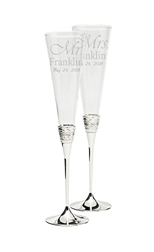 Vera Wang Wedgwood 5700366117 With Love Toasting Flute Pair (Personalized)