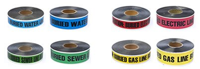 Red Detectable Marking Tape (2'' x 1000') by Black Swan Mfg. Co.