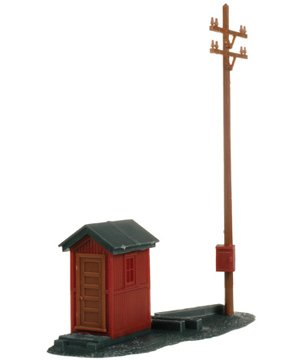 Atlas HO Scale Model Railroad Building Kit Telephone Shanty & Pole