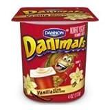 Danimals Vanilla Nonfat Yogurt, 4 Ounce Cup - 48 per case.