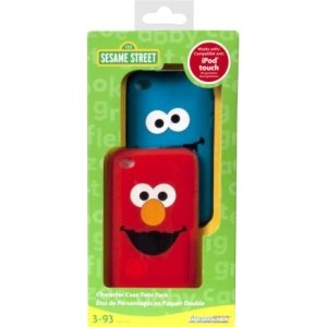 Elmo Silicone Case - Dreamgear iPod Touch (4 Gen) Elmo And Cookie Monster Silicone Cases