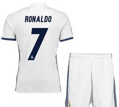 [2016-2017 RONALDO REAL MADRID #7 FOOTBALL SOCCER KIDS JERSEY HOME KIT YOUTH XL] (Real Football Kit)