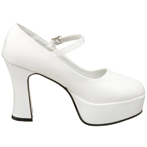 Bianco Unisex white Mary w Mar50 Adulto Pleaser bianco Jane x7qZwIY