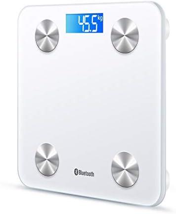 colore nero Bilancia elettronica digitale da bagno da 180 kg retroilluminata