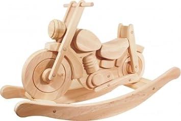 Moto à bascule Hale bois naturel: Amazon.